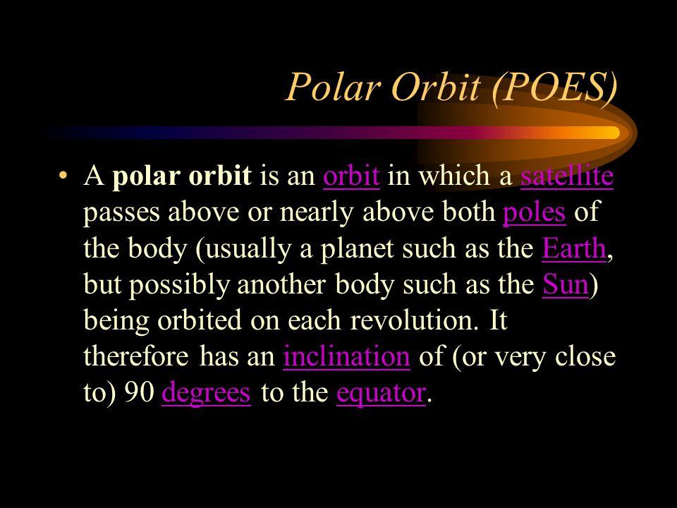 Polar Orbit (POES)
