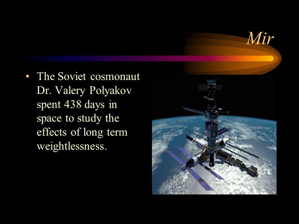 Mir The Soviet cosmonaut Dr.