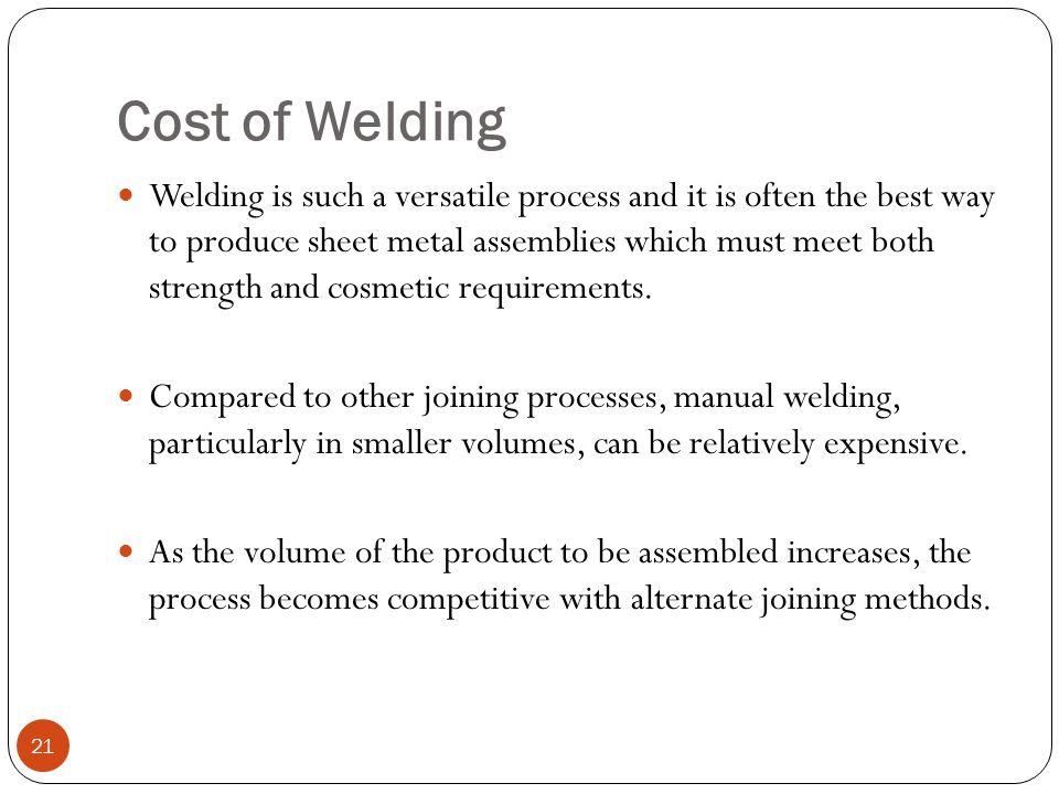 Cost of Welding