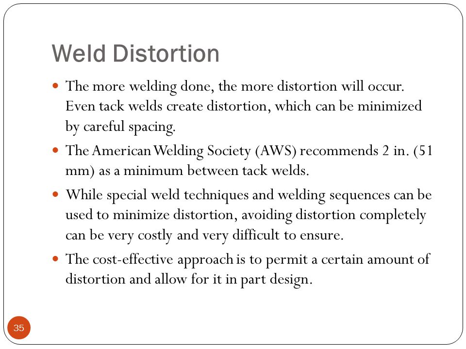 Weld Distortion