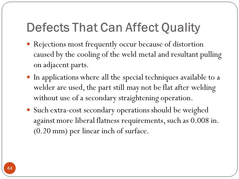 Defects That Can Affect Quality