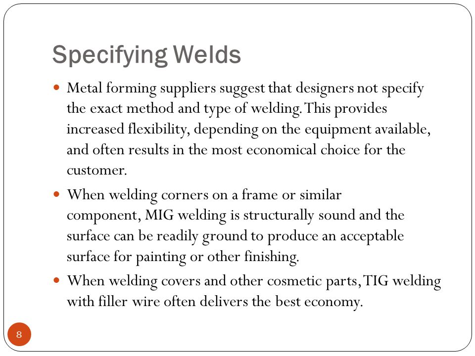 Specifying Welds