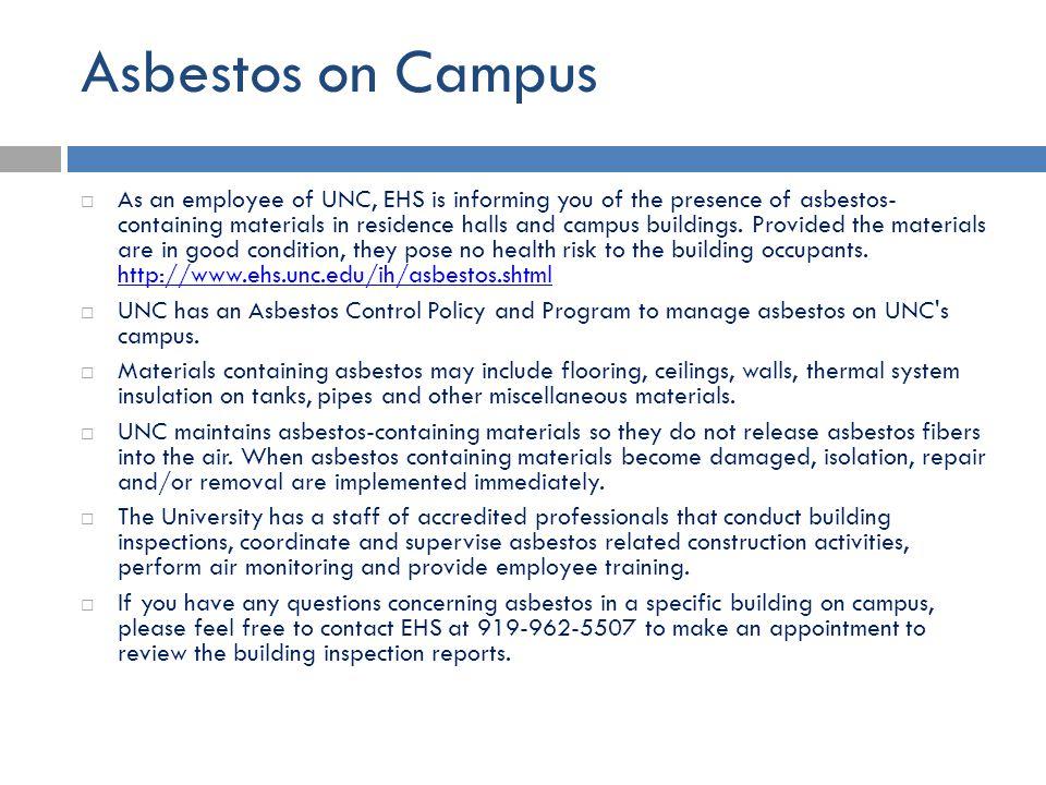 Asbestos on Campus