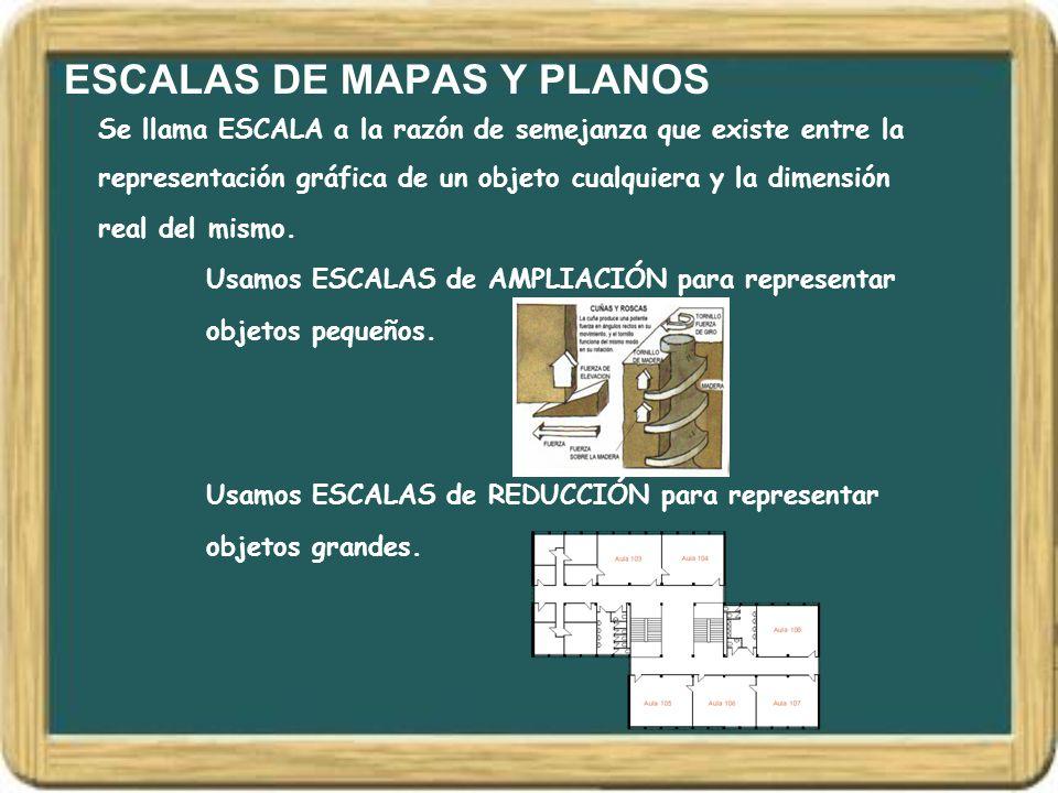 ESCALAS DE MAPAS Y PLANOS