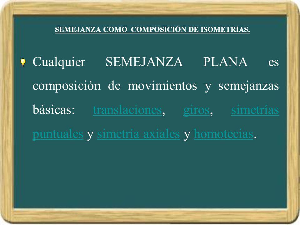 SEMEJANZA COMO COMPOSICIÓN DE ISOMETRÍAS.