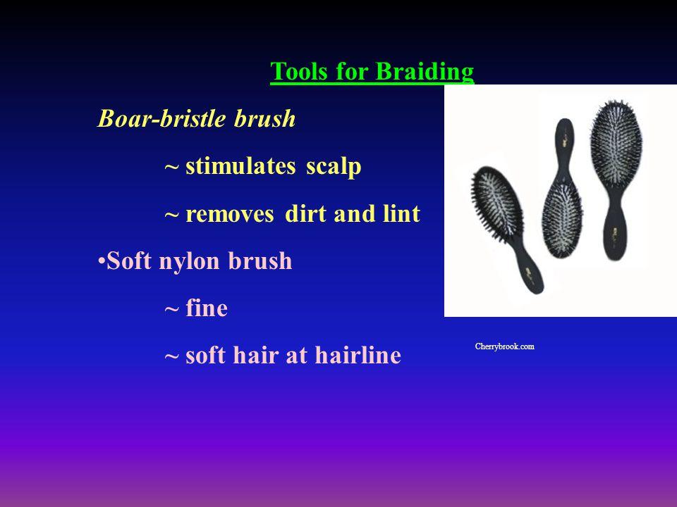 Tools for Braiding Boar-bristle brush ~ stimulates scalp
