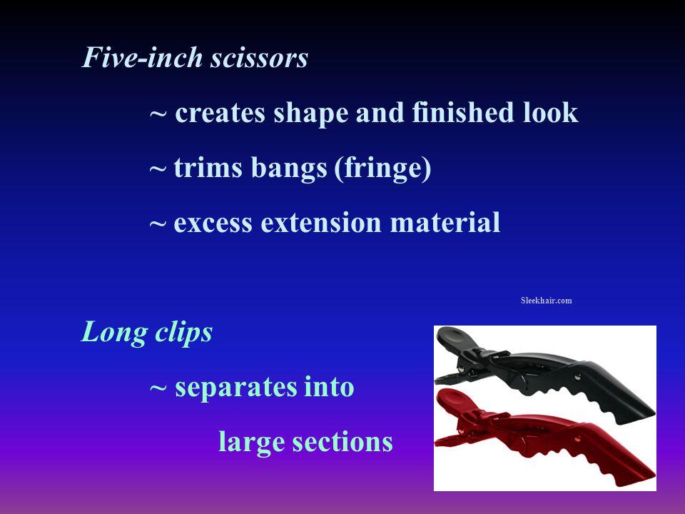 ~ creates shape and finished look ~ trims bangs (fringe)