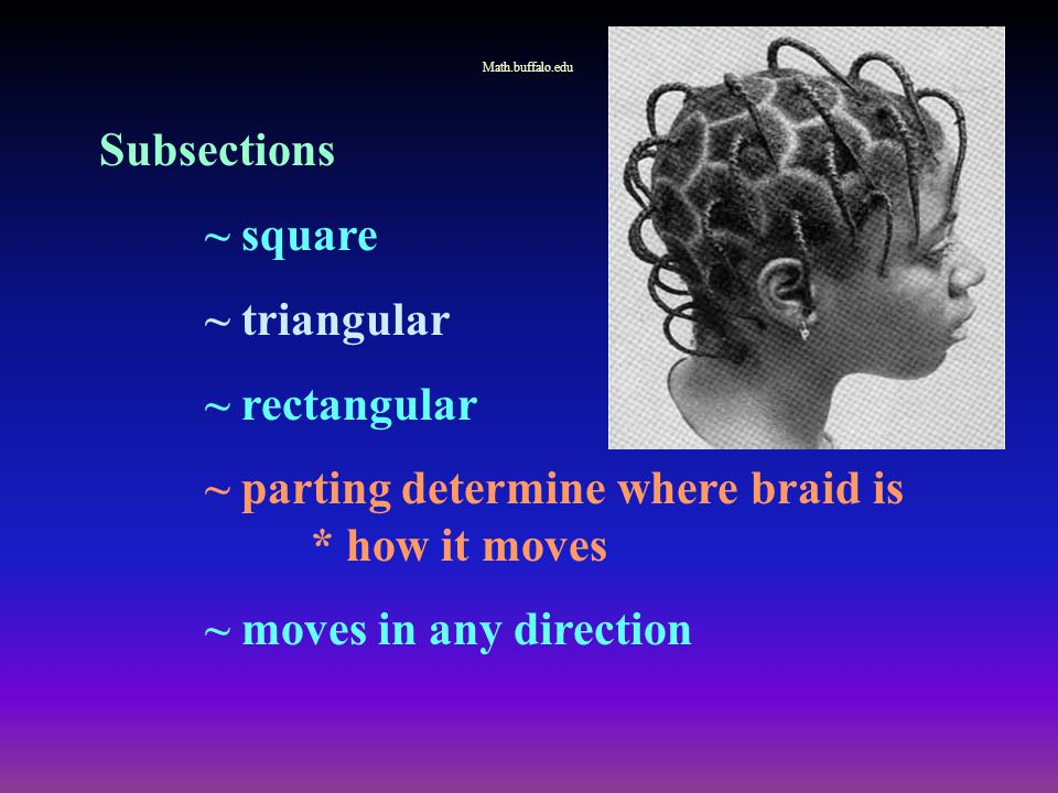 ~ parting determine where braid is * how it moves