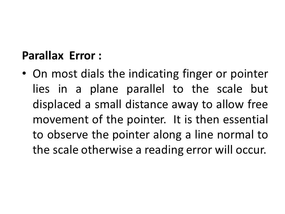 Parallax Error :