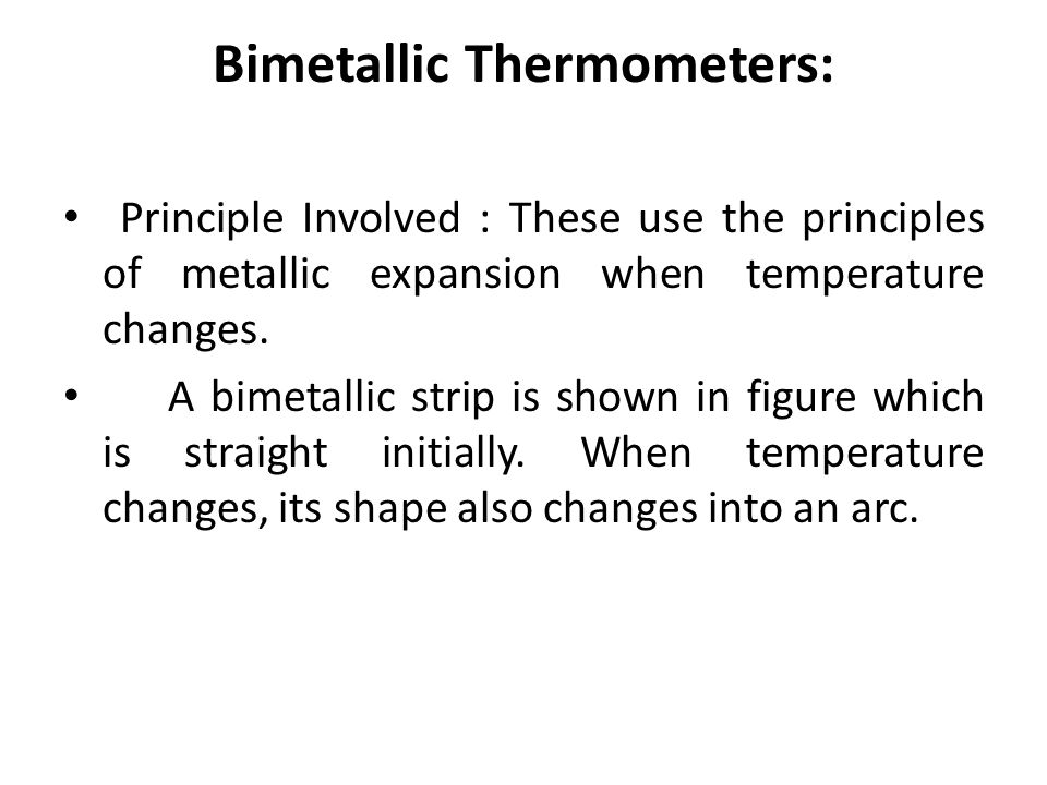 Bimetallic Thermometers: