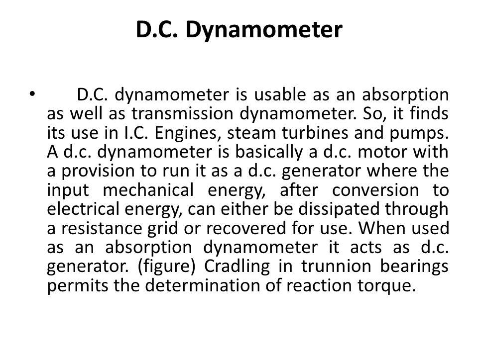D.C. Dynamometer
