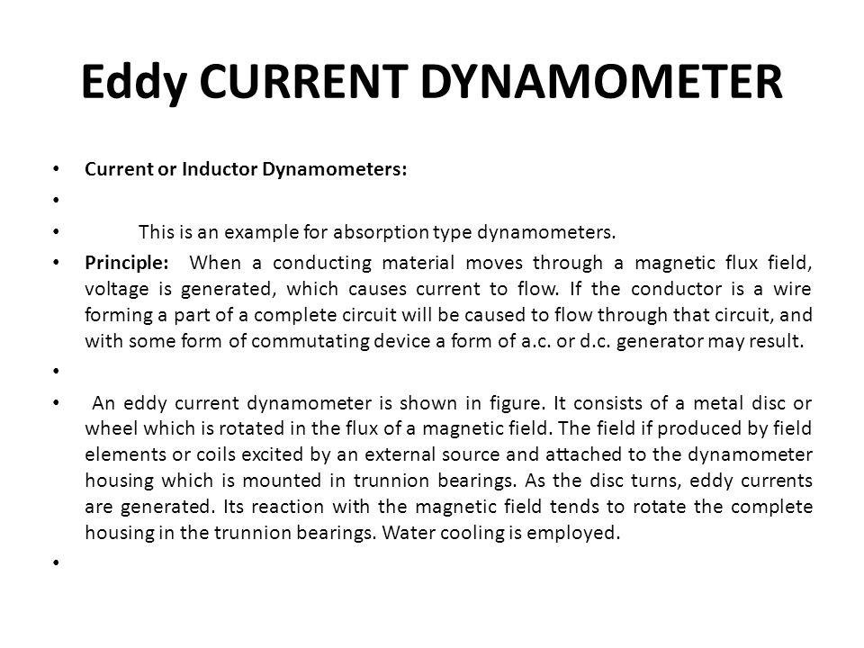 Eddy Current Dynamometer : U mea engg metrology instrumentation ppt video