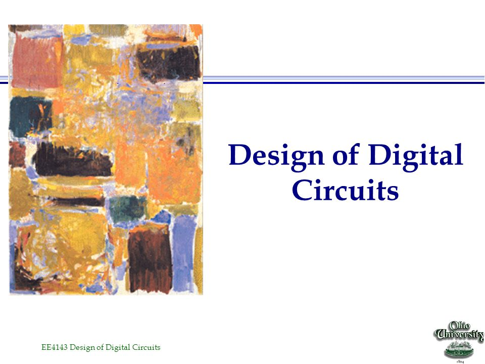 Design of Digital Circuits