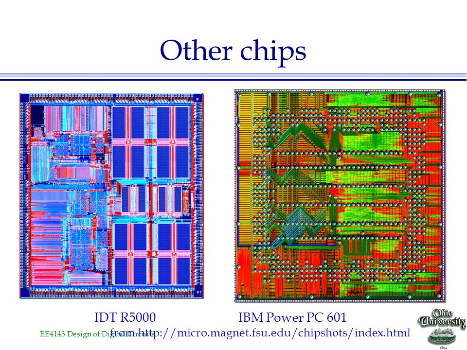 Other chips IDT R5000 IBM Power PC 601