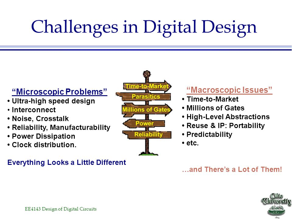 Challenges in Digital Design