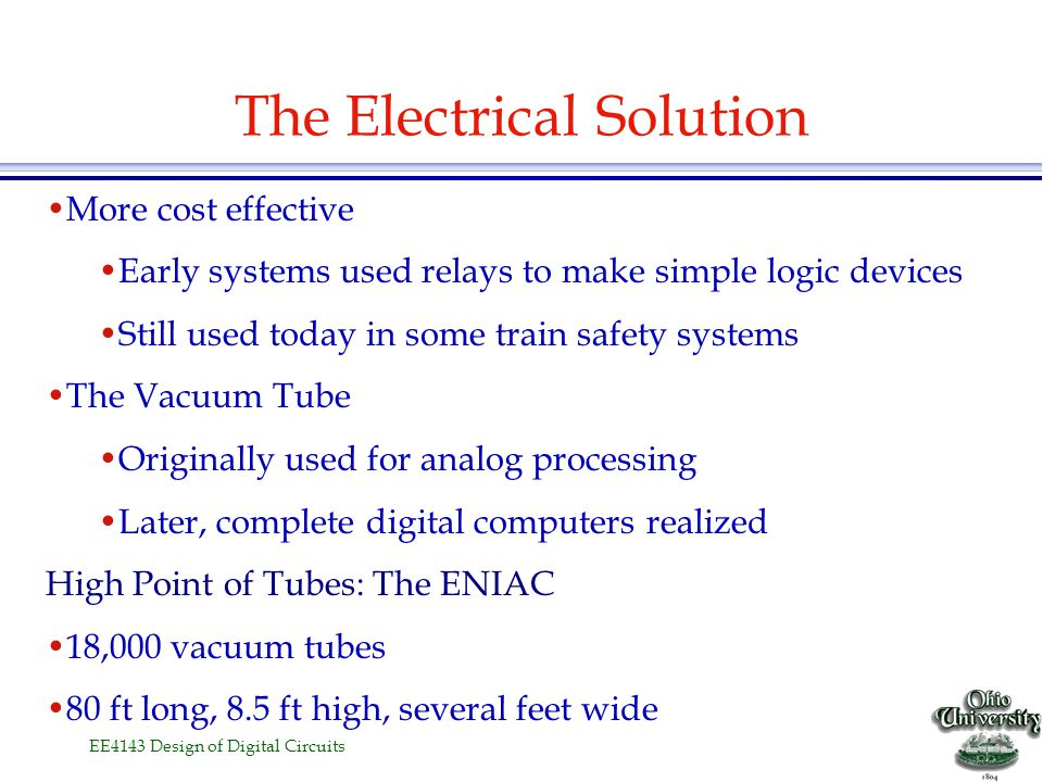 The Electrical Solution