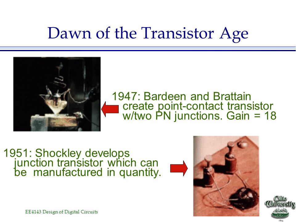 Dawn of the Transistor Age