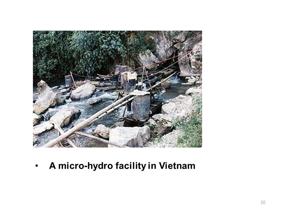 A micro-hydro facility in Vietnam