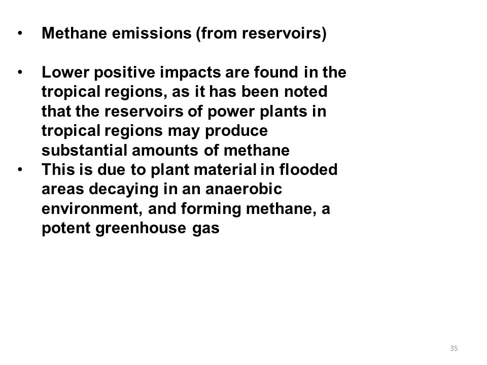 Methane emissions (from reservoirs)