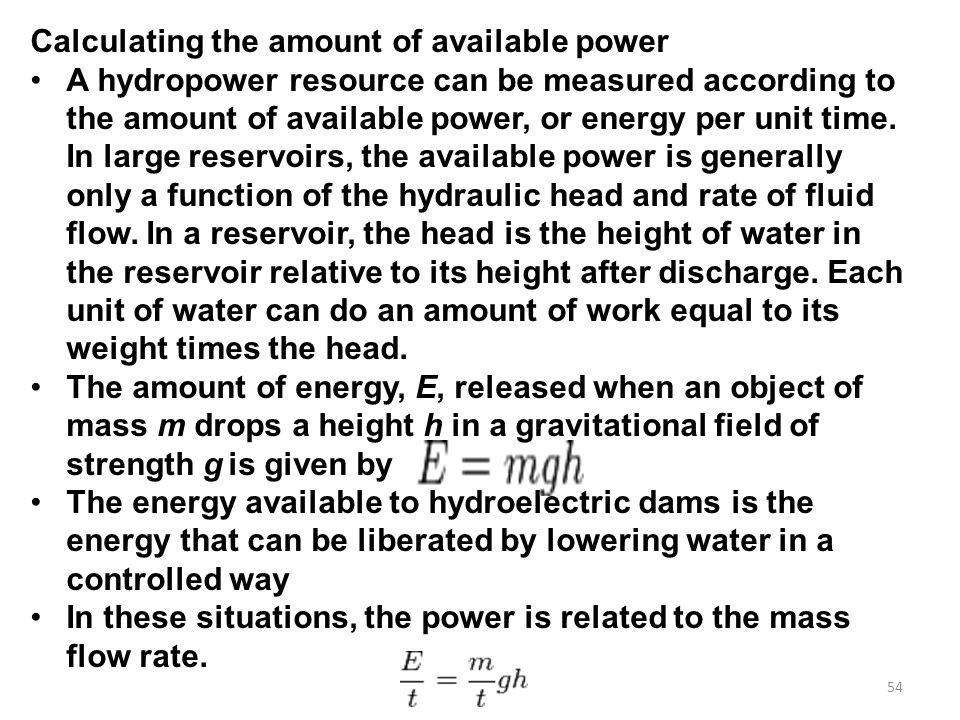 Calculating the amount of available power