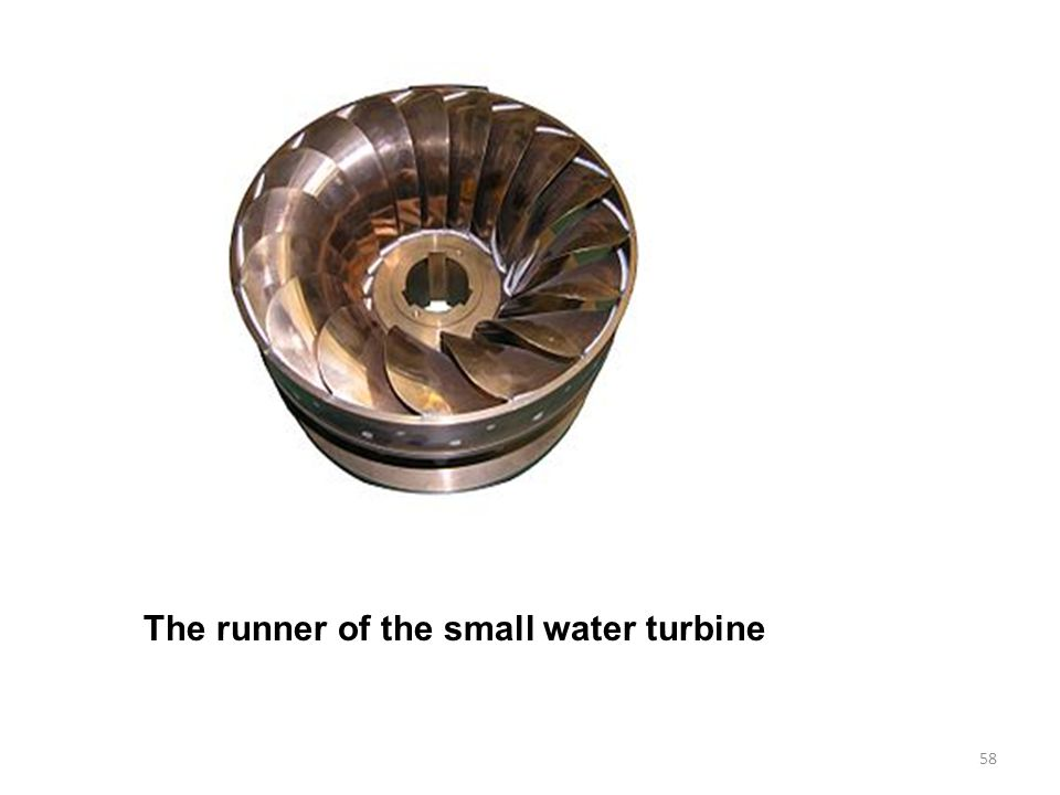The runner of the small water turbine