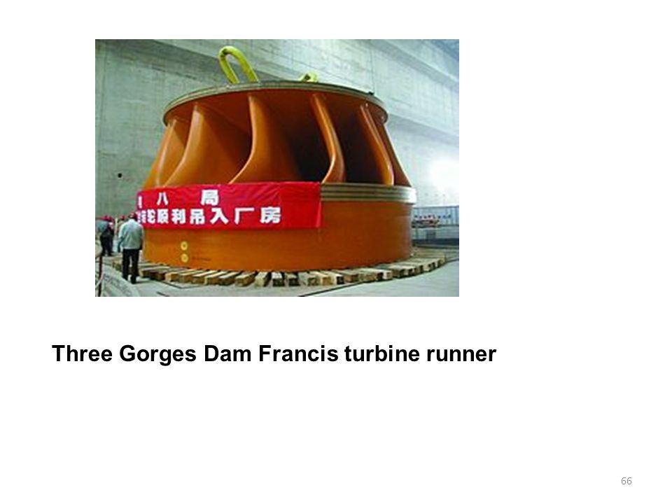 Three Gorges Dam Francis turbine runner