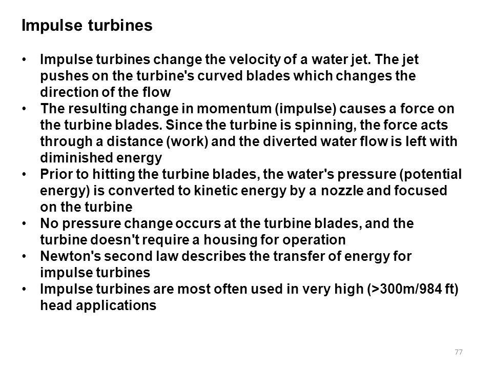 Impulse turbines