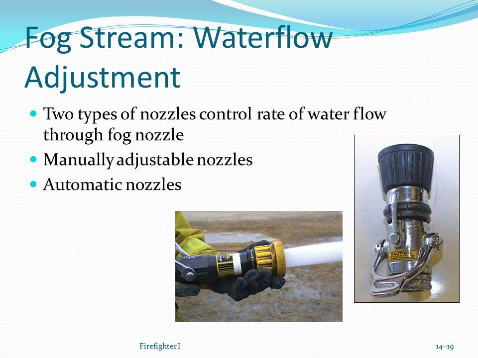 Fog Stream: Waterflow Adjustment