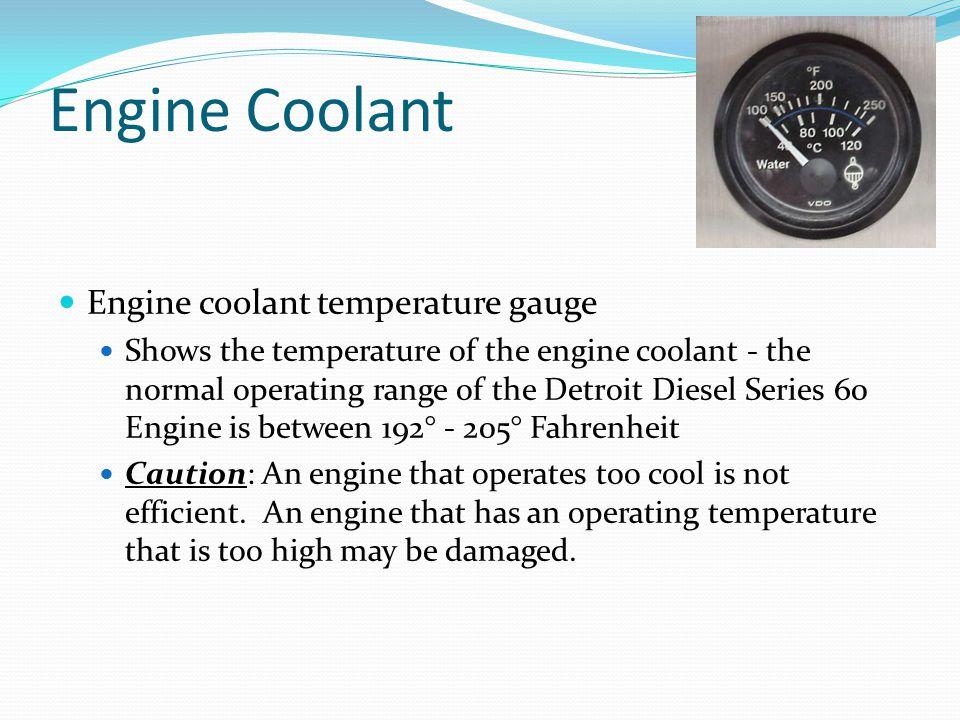 Engine Coolant Engine coolant temperature gauge