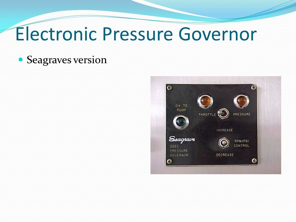 Electronic Pressure Governor