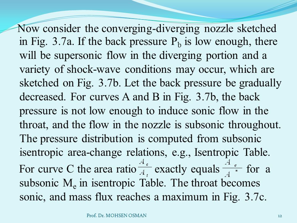 Now consider the converging-diverging nozzle sketched
