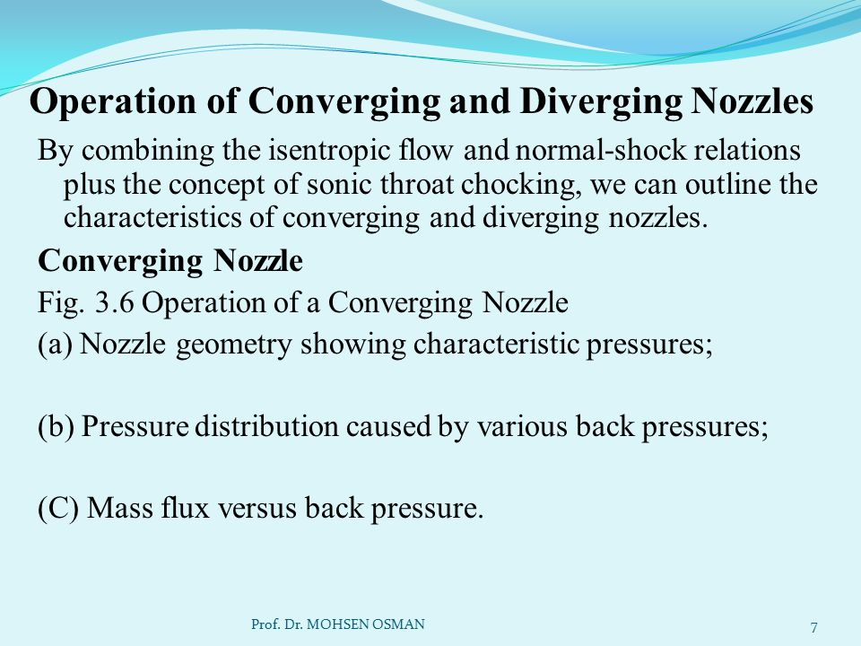 Operation of Converging and Diverging Nozzles