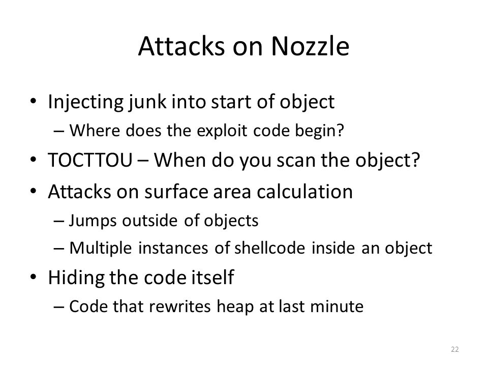 Attacks on Nozzle Injecting junk into start of object