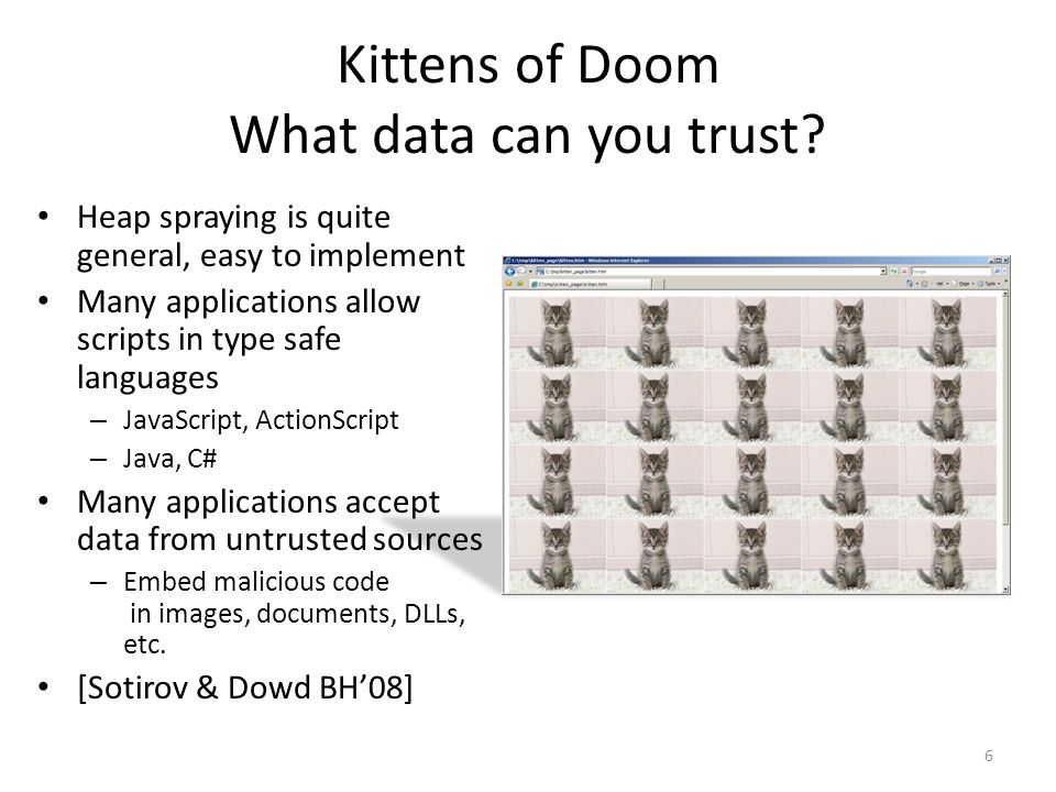 Kittens of Doom What data can you trust