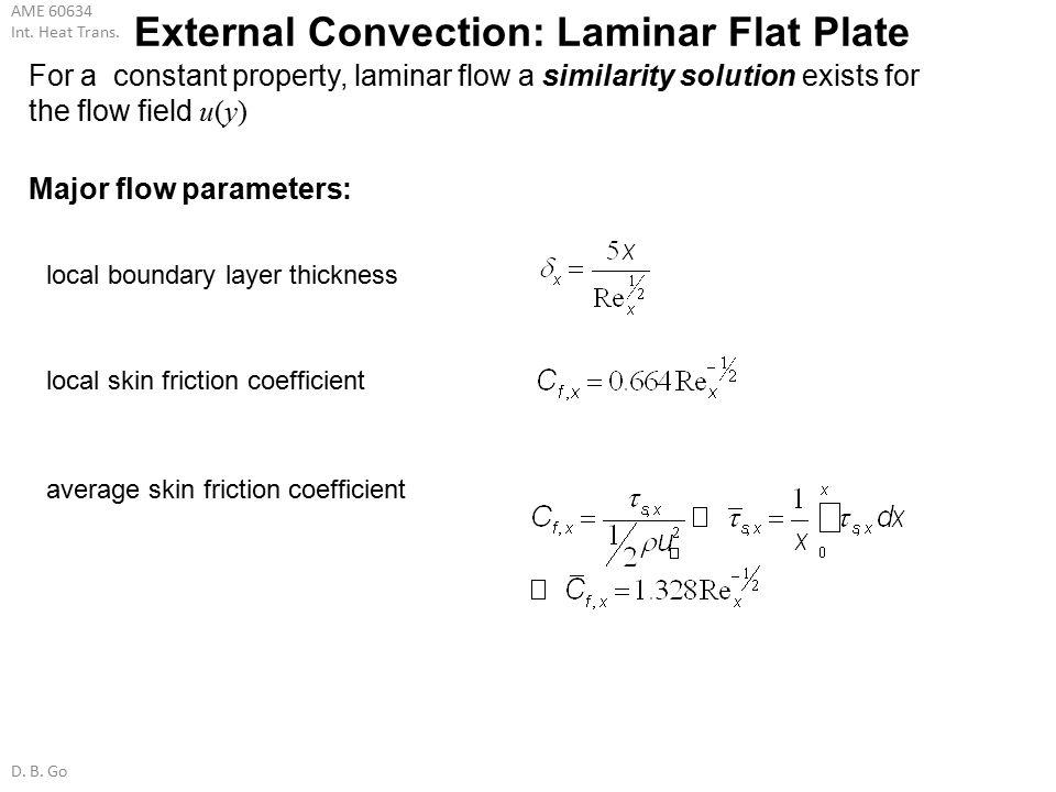 External Convection: Laminar Flat Plate
