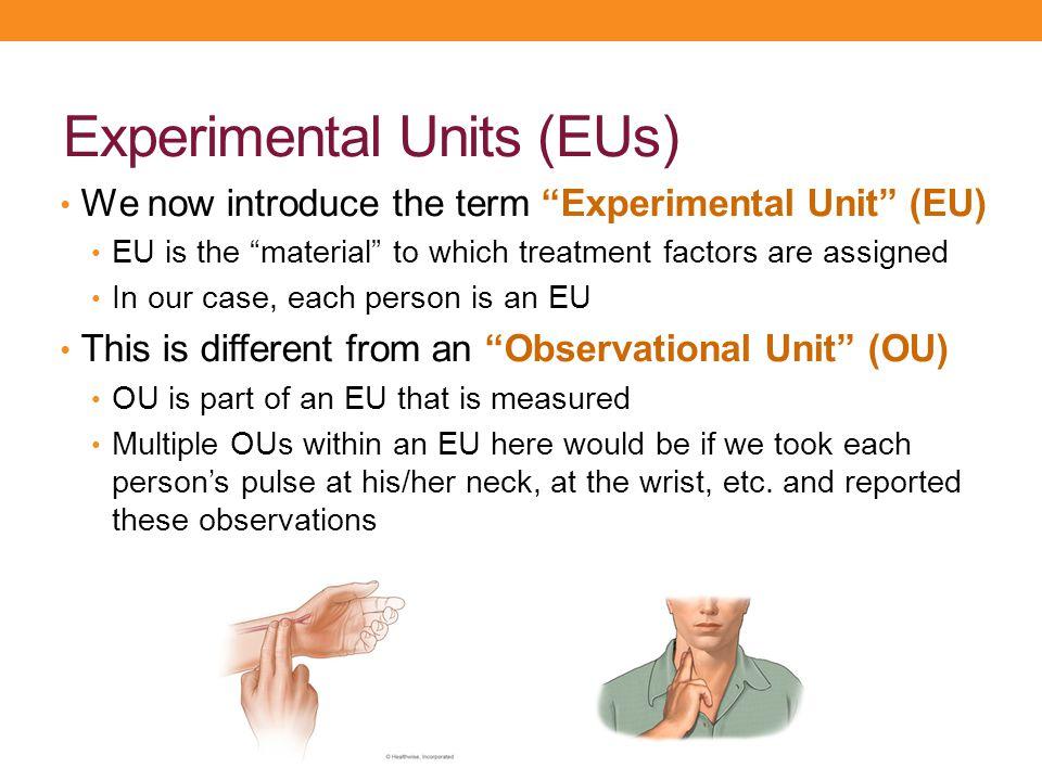 Experimental Units (EUs)