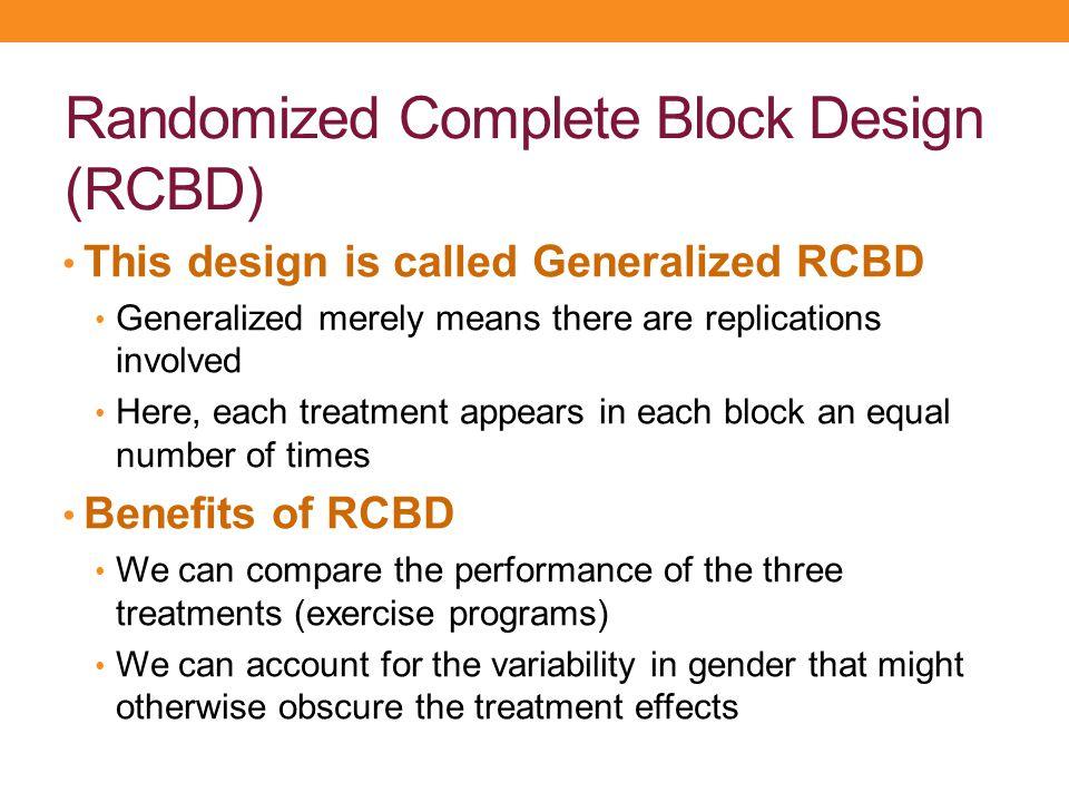 Randomized Complete Block Design (RCBD)