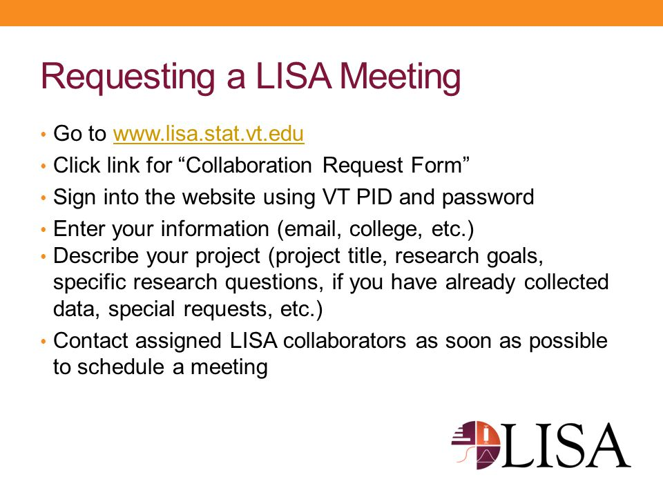 Requesting a LISA Meeting