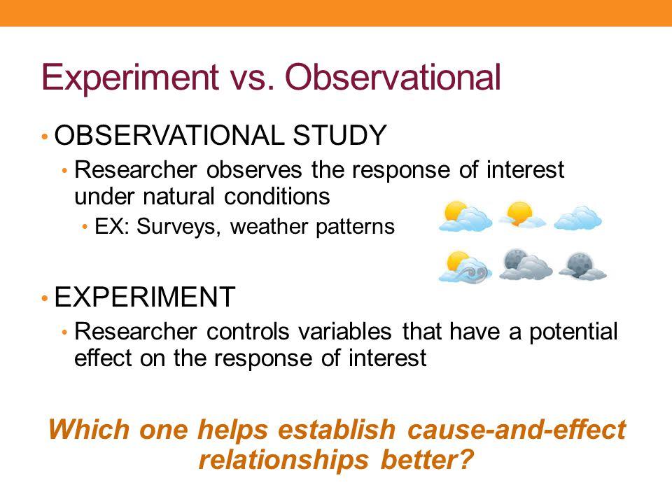 Experiment vs. Observational