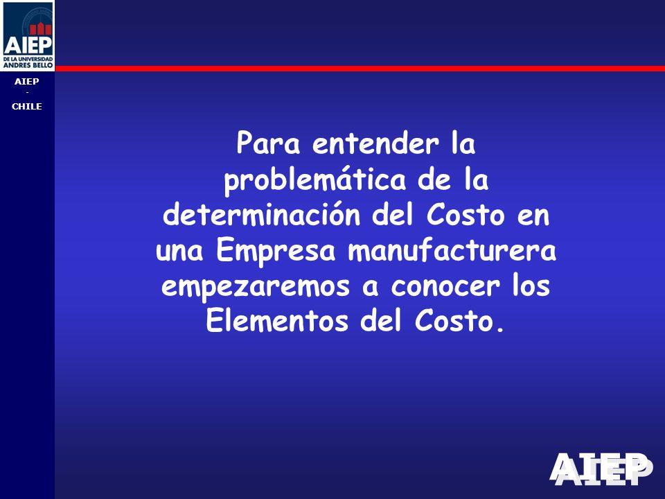 Para entender la problemática de la determinación del Costo en una Empresa manufacturera empezaremos a conocer los Elementos del Costo.