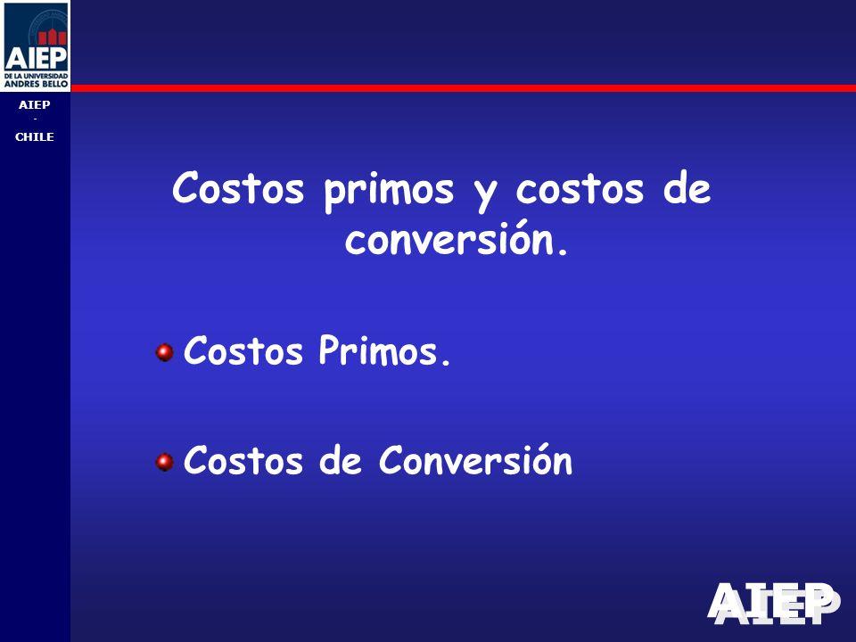 Costos primos y costos de conversión.
