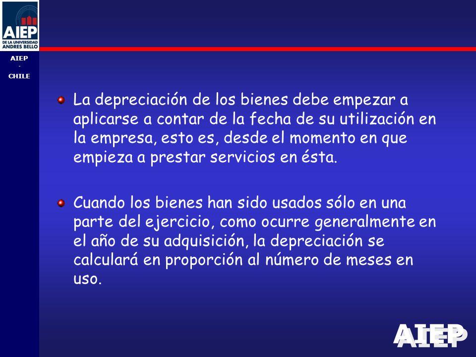 La depreciación de los bienes debe empezar a aplicarse a contar de la fecha de su utilización en la empresa, esto es, desde el momento en que empieza a prestar servicios en ésta.
