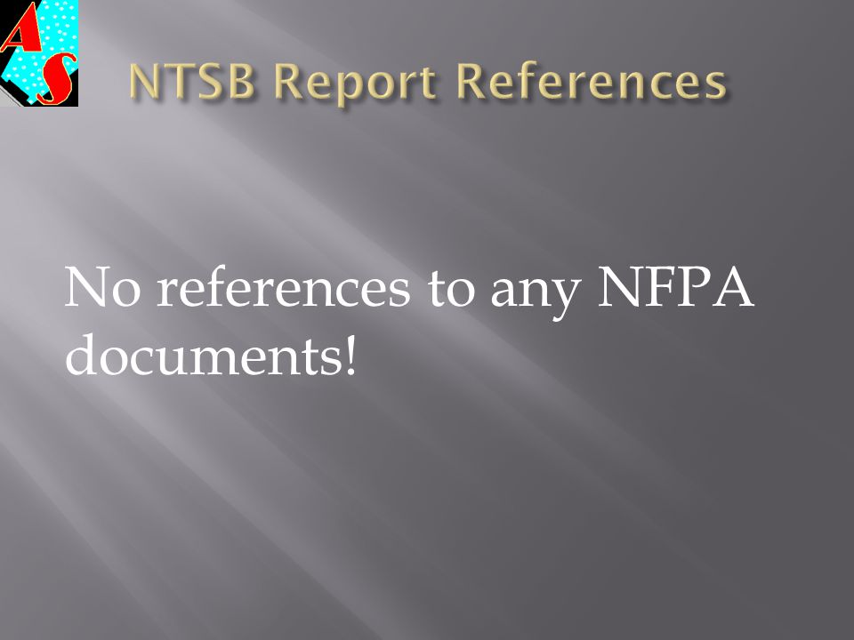 NTSB Report References