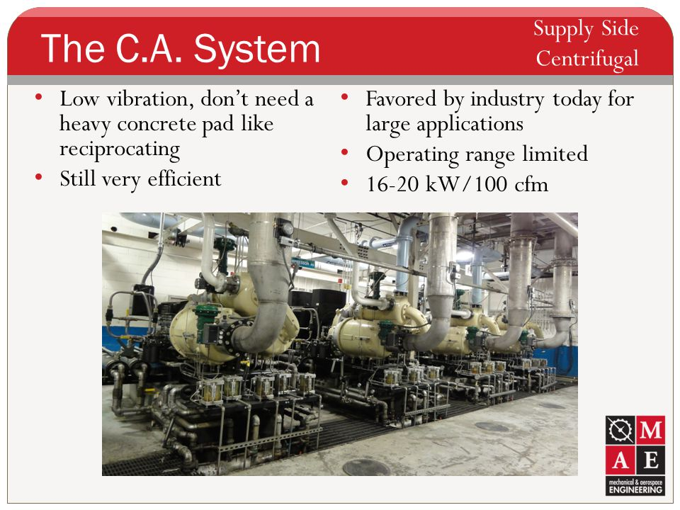 The C.A. System Supply Side Centrifugal