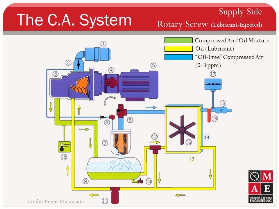 The C.A. System Supply Side Rotary Screw (Lubricant-Injected)