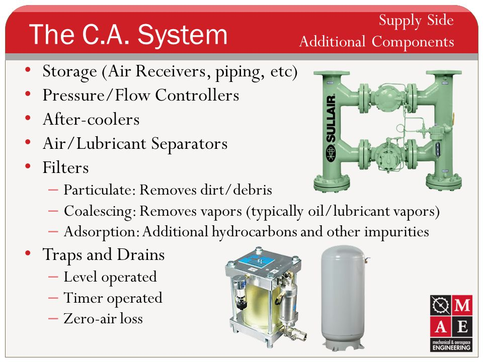 The C.A. System Storage (Air Receivers, piping, etc)