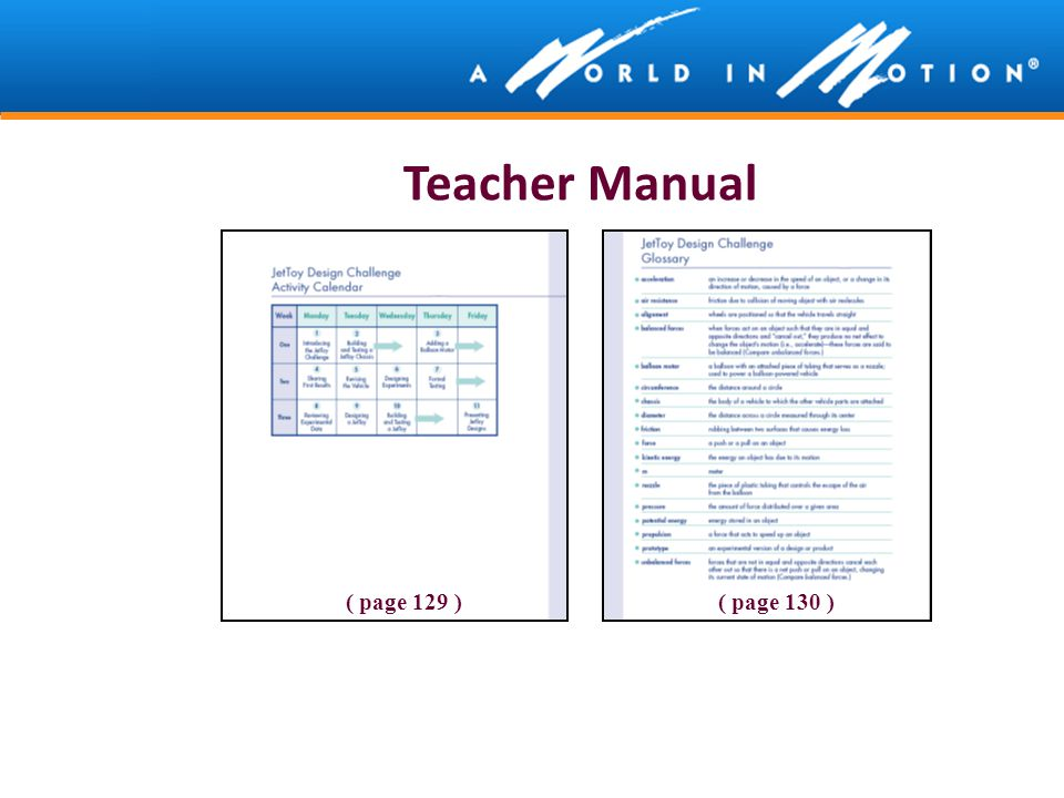 Teacher Manual ( page 129 ) ( page 130 )