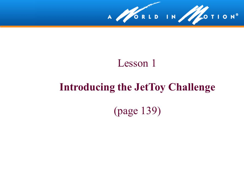 Introducing the JetToy Challenge