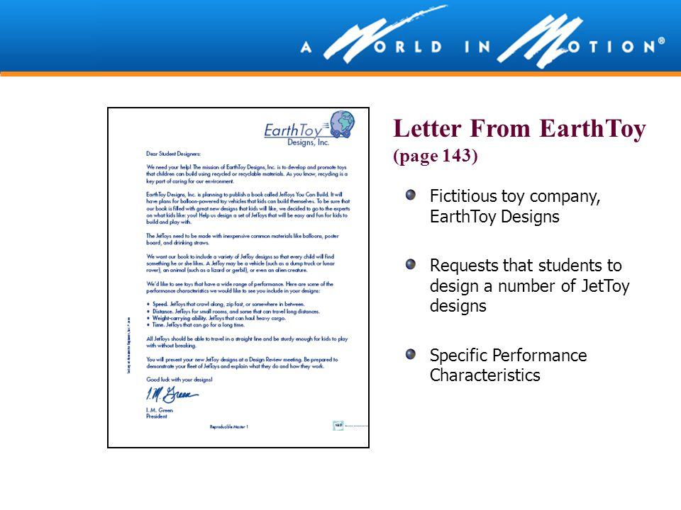 Letter From EarthToy (page 143)