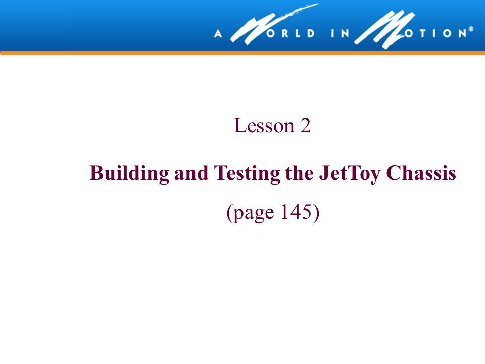 Building and Testing the JetToy Chassis